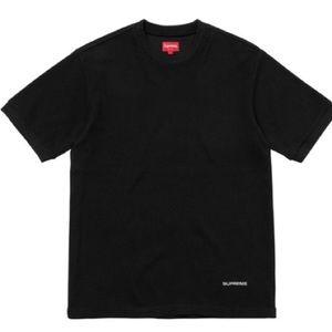Supreme Waffle Ringer Tee Shirt Large New Black
